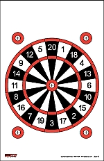 EZ2C shooting targets review - dart board target style 15