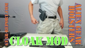 Jeff wearing Alien gear holsters cloak MOD OWB holster review