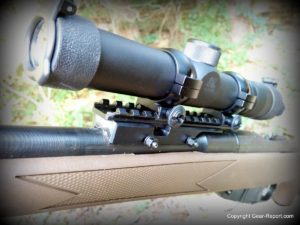 Brass Stacker Scout Scope Mount and L.E.R. Scope for Mosin Nagant