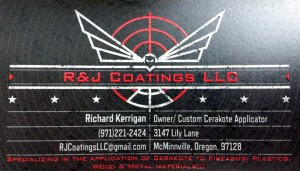 Custom Cerakote Gun camo - R&J Coatings contact info