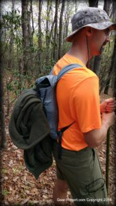 Cotopaxi Nepal 65L backpack review - Compression straps moved to peak bag