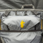 Cotopaxi Nepal 65L backpack review - peak bag and logo
