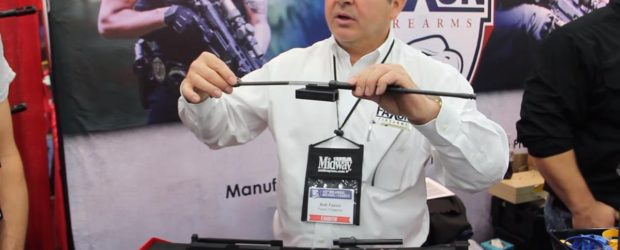 Bob from Faxon Firearms shows the AR15 upper, carbon fiber AR15 handguard and AR15 barrels at the 2016 NRA Annual Meetings & Exhibits… including the flame barrel that will be […]