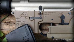 Gear-Report.com AR-15 custom rifle build 2016 - AeroPrecision AR15 Ambi lower in FDE