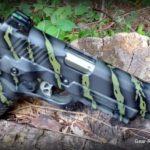 Custom Gun Coating by S&T One Stop Gun Shop - KG Gun Coat Tiger Stripe - Ruger SR1911 on stump