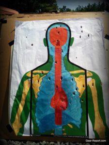 skeletarget used at Bear Creek Arsenal test