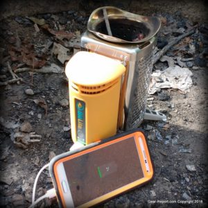 BioLite CampStove Review charging smart phone full