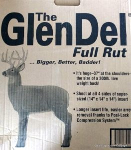GlenDel Buck Full-Rut archery 3D target review - box end