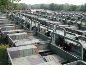 How much does a HMMWV cost? storage lot