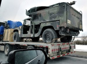 How much does a HMMWV cost? humvee transport