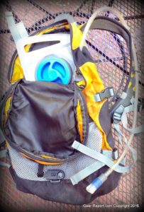 Outdoor Products 2 Liter Hydration Reservoir 2.0 Review - in backpack