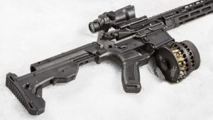 AR-15 Bump Fire Rifle Stock Full Review: Slide Fire SSAR-15 MOD - stock image