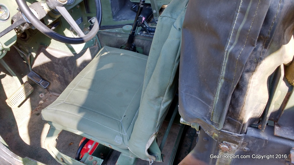 Stock Military Seats Which SUCK How Anyone Justified Installing These Terrible In The HMMWV Is Beyond Me