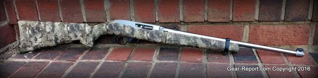Ruger 1022 Takedown Stainless Steel Rifle review - on bricks