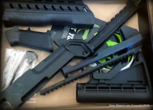 SlideFire SSAR-22 Bump Fire Stock for Ruger 10/22 Kit Review - parts