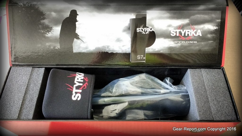 Styrka S7 Rifle Scope review in box