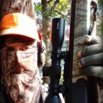 Thompson Center Strike Stiker Fired Muzzleloader Review - in deer stand