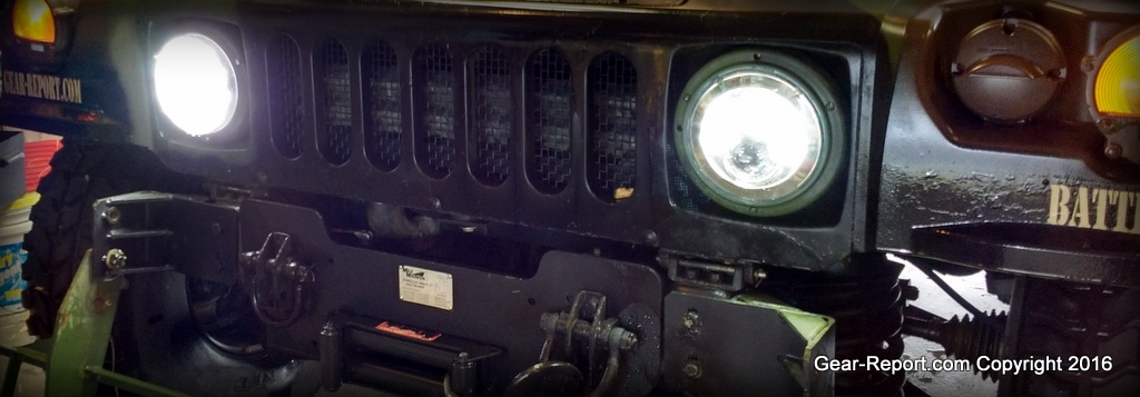 Humvee or Military Vehicle Upgrade: HMMWV LED Headlights, M35A2 LED on