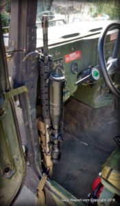 Humvee Upgrade – How to Make an Easy DIY HMMWV Rifle Rack - installed