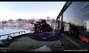 Clark Custom Guns clark 1022 review - jeff shooting off of HMMWV
