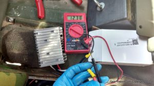 HMMWV 24v to 12v converter installation