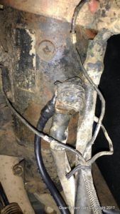HMMWV grounding harness - Starter ground is on bottom of starter.