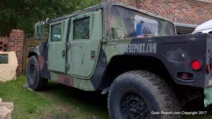 HMMWV supplemental armor doors