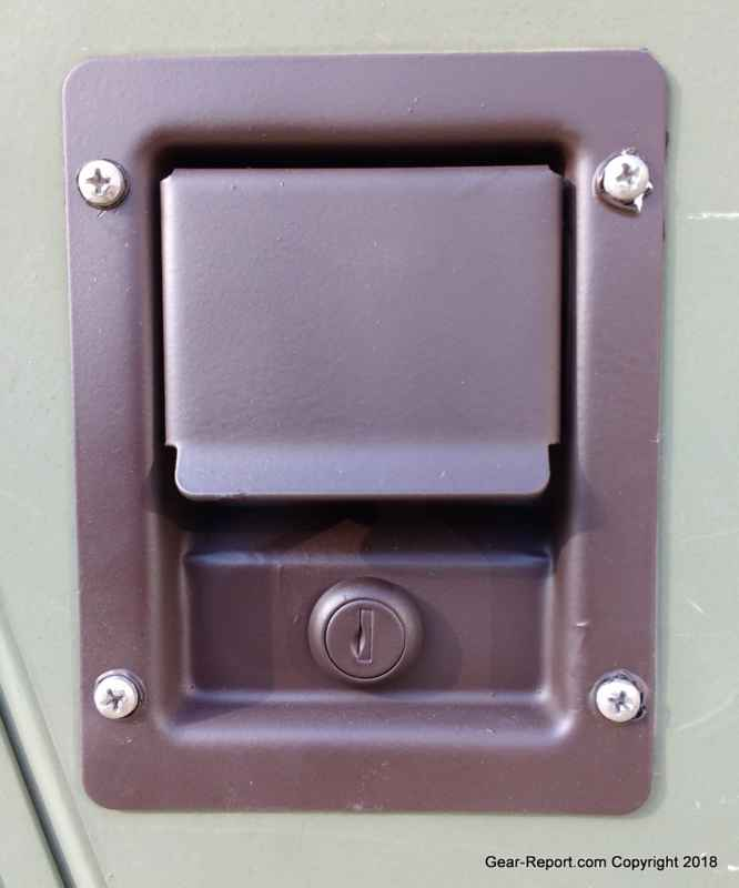 hmmwv locking latch for x-doors