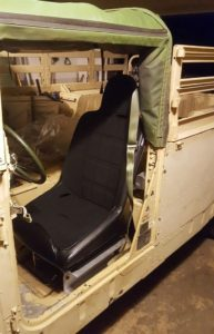 HMMWV seats - Mastercraft Nomad seats in Humvee