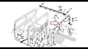 Install HMMWV c-pillar