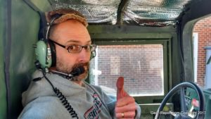 DIY Humvee upgrade - HMMWV Intercom - Jeff, thumbs up.