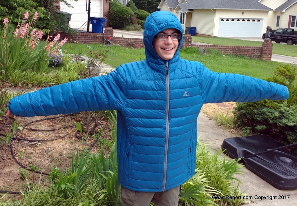 a479ca37e41 best budget backpacking gear for philmont -  MyTrailCo Down Light Hooded Jacket Randall modeling