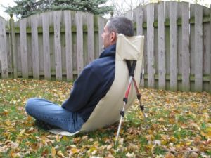 Best Ultralight Chair for Backpacking - home made trekking pole chair