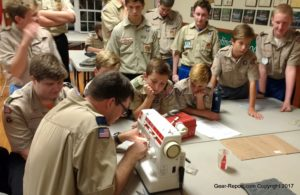 DIY Rookie takes on Ripstop by the Roll Hammock and UQ kits - teaching Boy Scouts how to DIY make gear