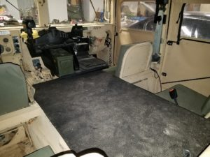 How to Make a HMMWV Interior Tunnel Cover - horse stall mat