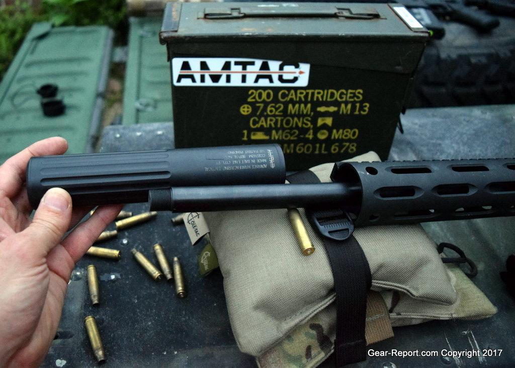 AMTAC suppressor 762CQBm review - over barrel silencer beside barrel