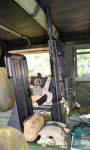AMTAC suppressors 762 CQBm silencer review - AR15 in Blac-Rac in HMMWV