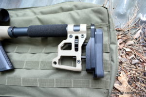 MDT LSS-22 1022 review - buttstock foam cheek rest