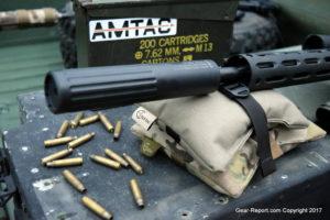 AMTAC suppressors 762 CQBm silencer review - installed