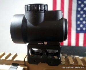 Fake Chinese Trijicon MRO Knock-Off Review - Mounted on AR15 - left side view