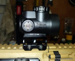 Fake Chinese Trijicon MRO Knock-Off Review - Mounted on AR15 - side view