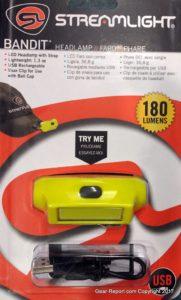 Streamlight Bandit LED rechargeable headlamp flashlight. Models 61700, 61702, 61703 review