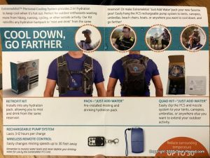 Extreme mist Personal Cooling System REmote manual